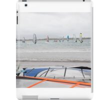 wind surfers racing in the gales iPad Case/Skin