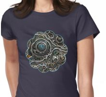 Silver glitter bubble cells pattern Womens Fitted T-Shirt