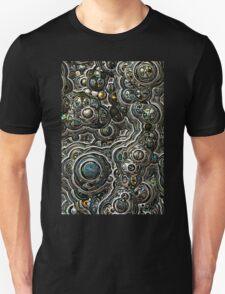 Silver glitter bubble cells pattern Unisex T-Shirt