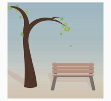 Spring tree with bench Kids Clothes