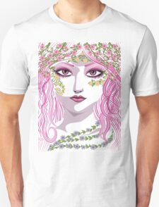Summer girl face Unisex T-Shirt