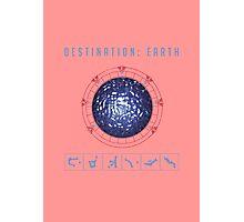 Destination Earth chevron symbols pink Photographic Print