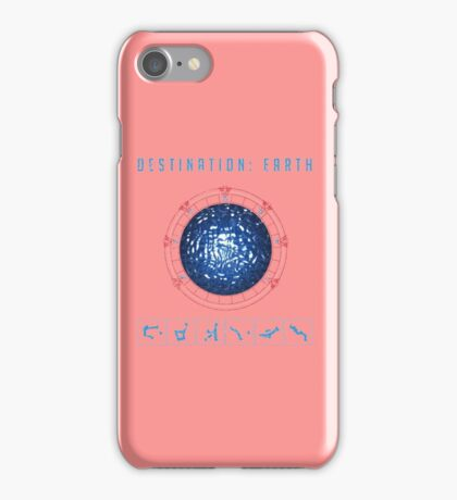 Destination Earth chevron symbols pink iPhone Case/Skin