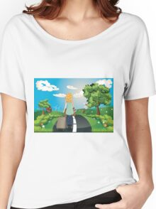 Summer Landscape with Girl Women's Relaxed Fit T-Shirt