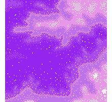 Purple Nebula (8bit) Photographic Print