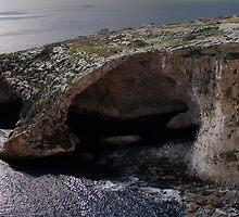Wied iz-Zurrieq - Blue Grotto from top by Elvio Spiteri