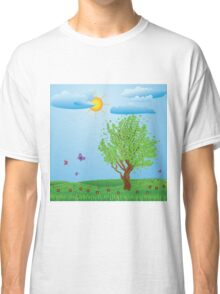 Tree on meadow Classic T-Shirt