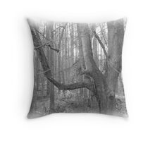 Tree - Charcoal Sketch Throw Pillow