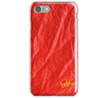 Creased Paper Red iPhone Case/Skin