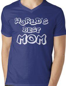 WORLDS BEST MOM Mens V-Neck T-Shirt