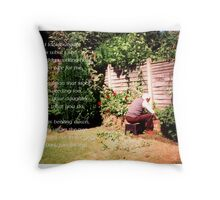 When I look out I think of you Throw Pillow