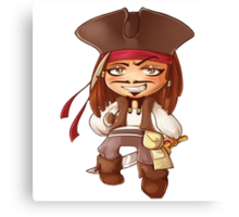 jack sparrow kid Canvas Print