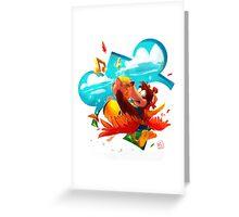 Bear and Bird Greeting Card
