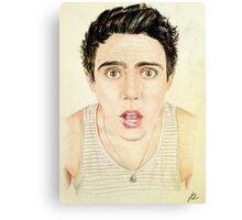 PointlessBlog / Alfie Deyes Drawing Canvas Print
