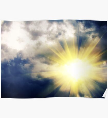 Light through Dramatic Sky 3 Poster