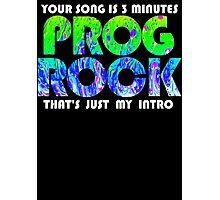 Prog Rock Liquid 3 Minutes Photographic Print