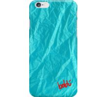 Creased Paper Turquoise  iPhone Case/Skin