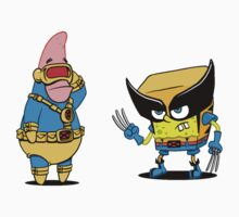 spongebob and patrick-x men Kids Clothes