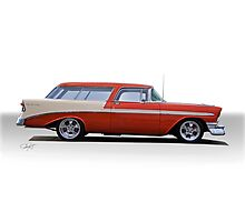 1956 Chevrolet 'Nomad' Wagon Photographic Print