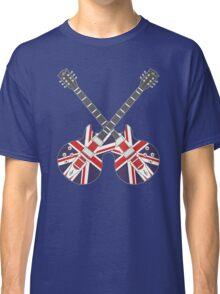 British Mod Union Jack Guitars Classic T-Shirt