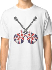 British Mod Union Jack Guitars Classic T-Shirt