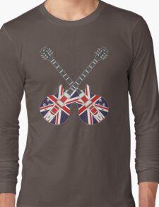 British Mod Union Jack Guitars Long Sleeve T-Shirt