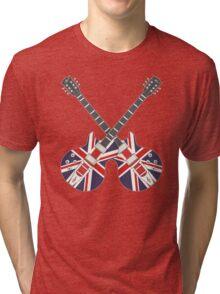 British Mod Union Jack Guitars Tri-blend T-Shirt