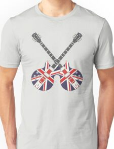British Mod Union Jack Guitars Unisex T-Shirt