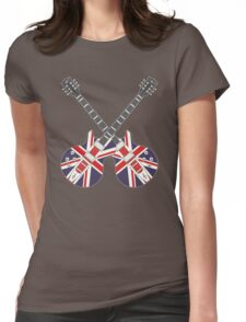 British Mod Union Jack Guitars Womens Fitted T-Shirt