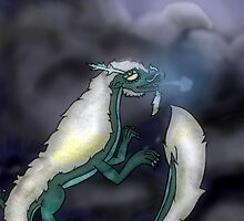Dragon among the Clouds by BashsArt