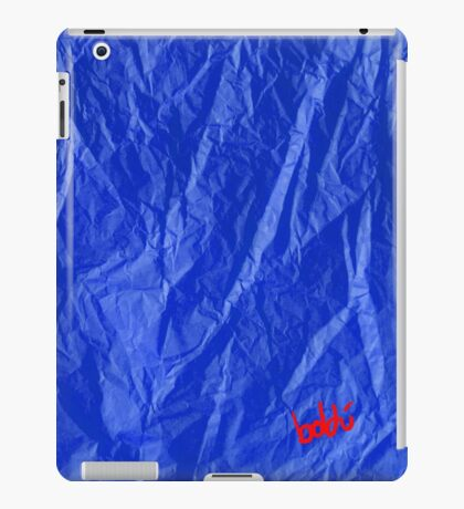 Creased Paper Blue iPad Case/Skin
