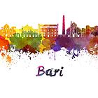 Bari skyline in watercolor by paulrommer