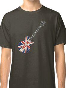 Mod British Union Jack Guitar Classic T-Shirt