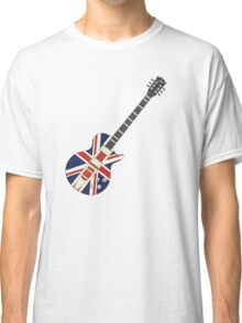 Mod British Union Jack Guitar Classic T-Shirt