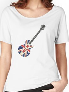 Mod British Union Jack Guitar Women's Relaxed Fit T-Shirt