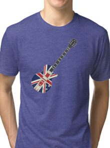 Mod British Union Jack Guitar Tri-blend T-Shirt
