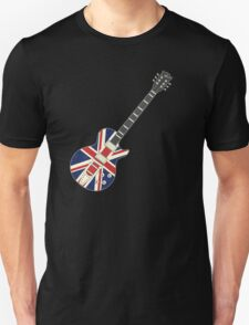 Mod British Union Jack Guitar Unisex T-Shirt