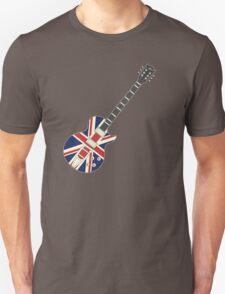 Mod British Union Jack Guitar Unisex T-Shirt