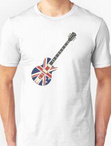 Mod British Union Jack Guitar T-Shirt
