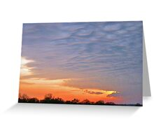 Mammatus Clouds Greeting Card