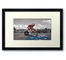 CADEL EVANS, LE TOUR DE FRANCE Framed Print