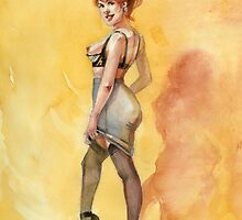 Yellow Pinup by Megan Glosser