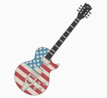 USA Flag Guitar by SonicContours
