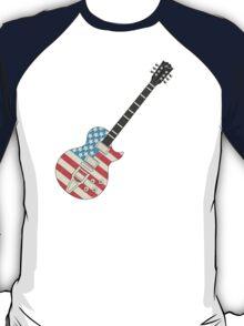 USA Flag Guitar T-Shirt