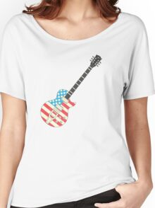 USA Flag Guitar Women's Relaxed Fit T-Shirt