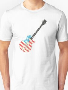USA Flag Guitar Unisex T-Shirt