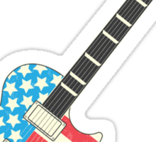 USA Flag Guitar Sticker