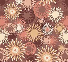 Floral retro pattern by olgart