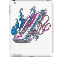 Music Tape Cassette Flames iPad Case/Skin