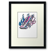 Music Tape Cassette Flames Framed Print